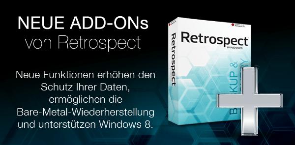 Neue ADD-ONs von Retrospect