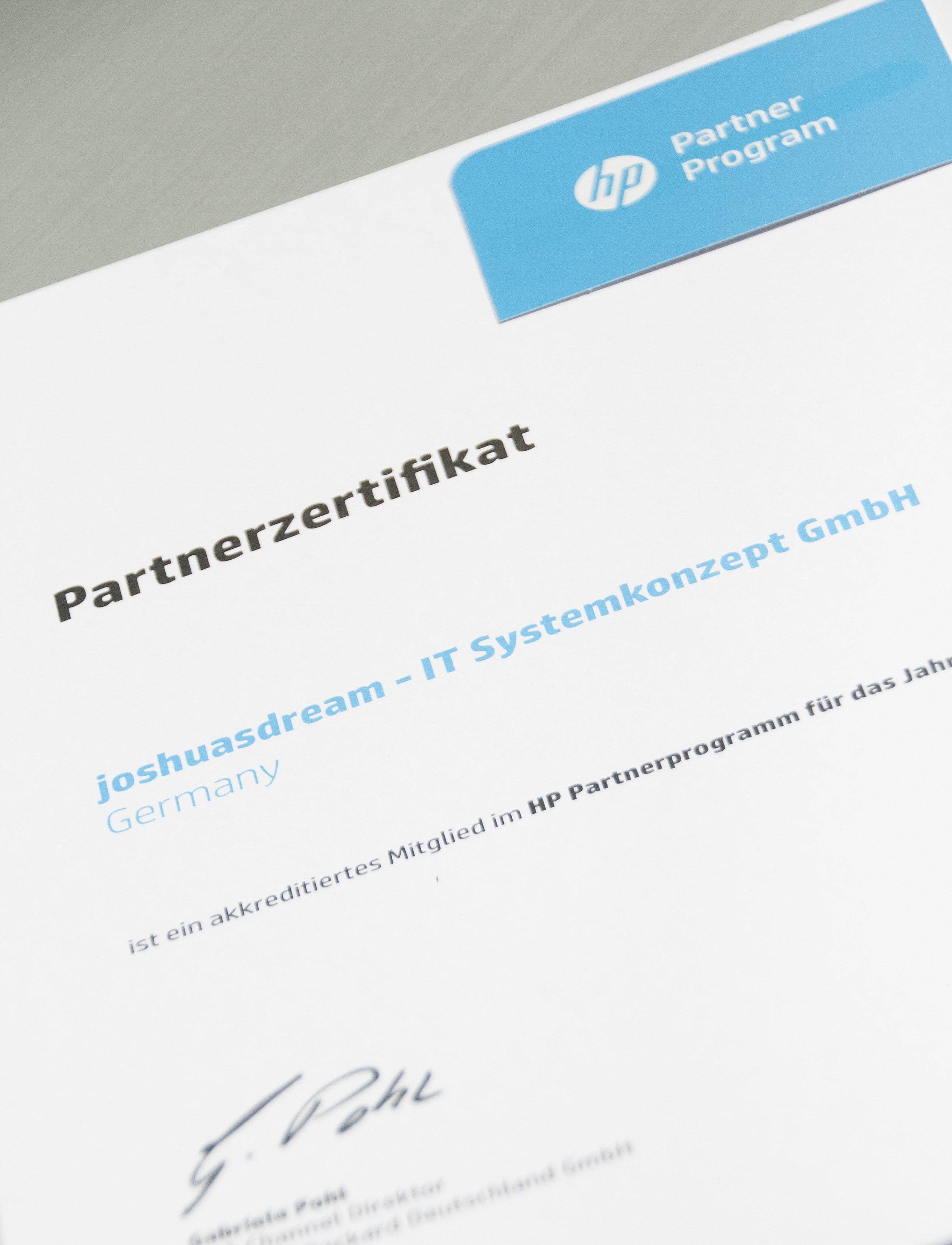 joshuasdream ist Mitglied des HP Partnerprogrammes