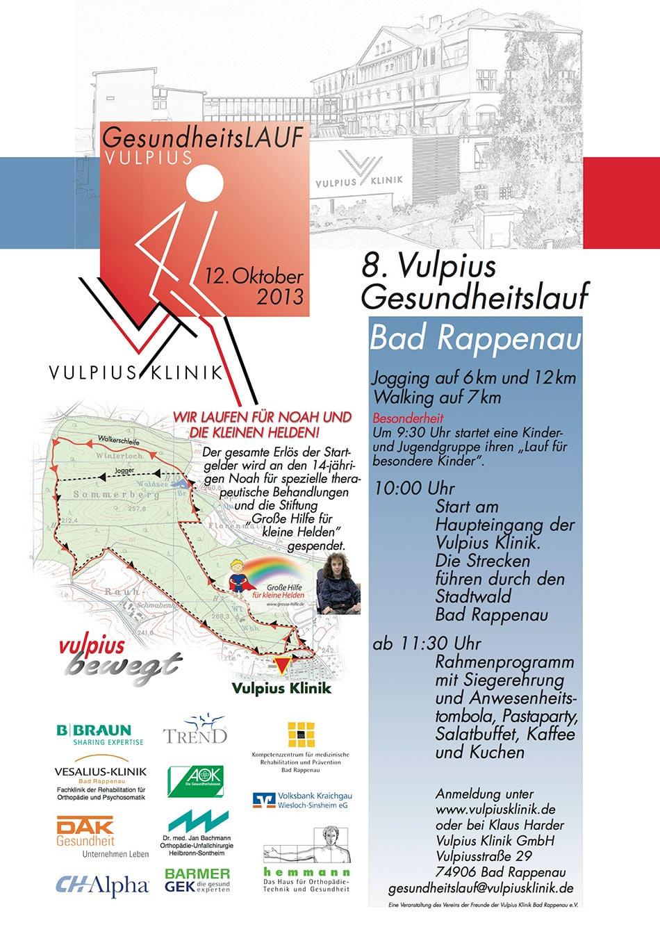 Laufen für den Guten Zweck (Vulpiuslauf 12. Oktober 2013)